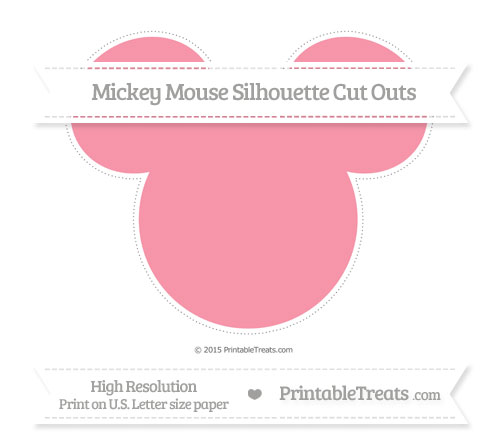 Free Pastel Pink Extra Large Mickey Mouse Silhouette Cut Outs