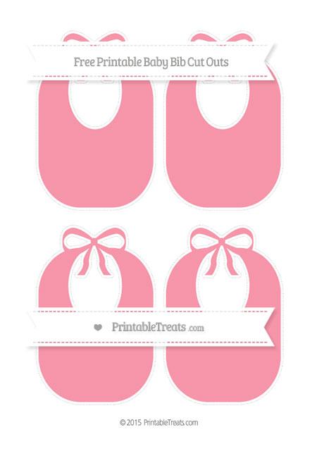 Free Pastel Pink Medium Baby Bib Cut Outs