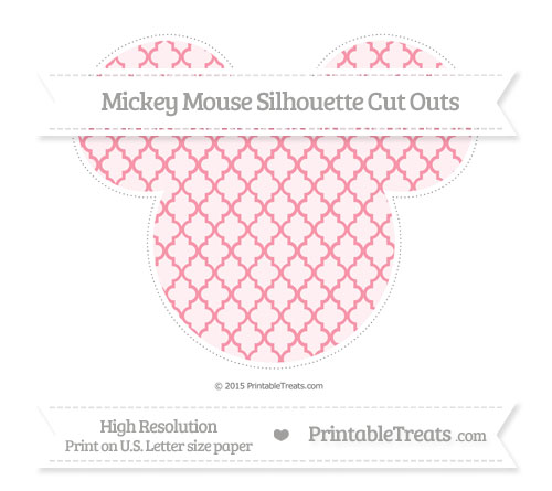 Free Pastel Pink Moroccan Tile Extra Large Mickey Mouse Silhouette Cut Outs