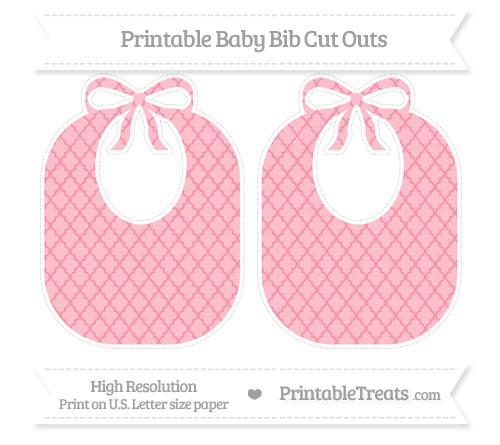 Free Pastel Pink Moroccan Tile Large Baby Bib Cut Outs