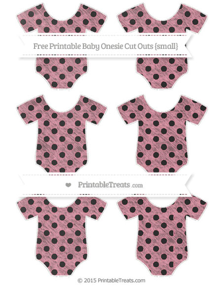 Free Pastel Pink Polka Dot Chalk Style Small Baby Onesie Cut Outs