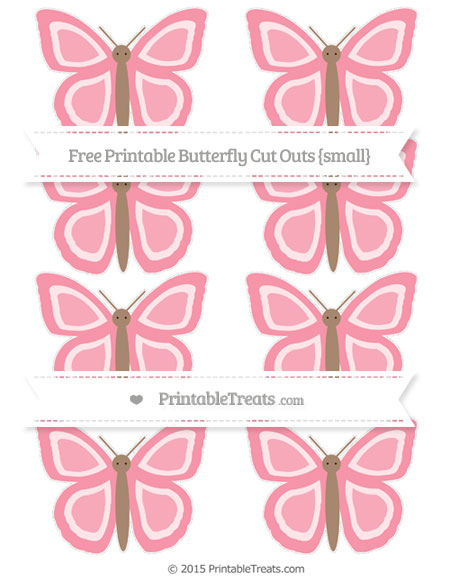 Free Pastel Pink Small Butterfly Cut Outs