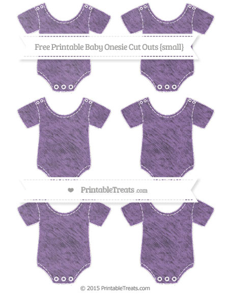 Free Pastel Plum Chalk Style Small Baby Onesie Cut Outs