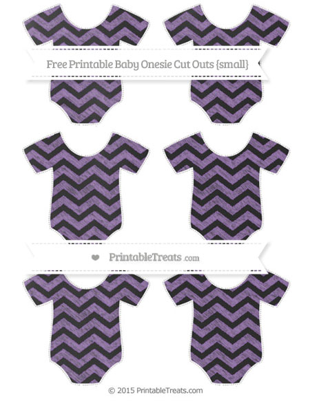 Free Pastel Plum Chevron Chalk Style Small Baby Onesie Cut Outs