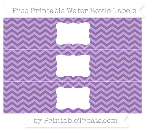 Free Pastel Plum Chevron Water Bottle Labels