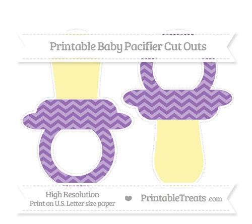 Free Pastel Plum Chevron Large Baby Pacifier Cut Outs