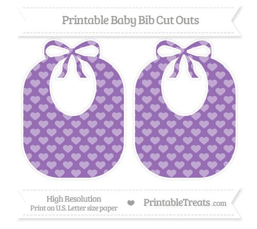 Free Pastel Plum Heart Pattern Large Baby Bib Cut Outs