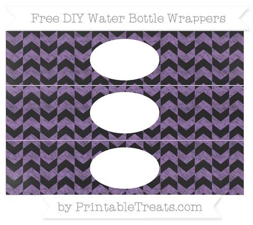 Free Pastel Plum Herringbone Pattern Chalk Style DIY Water Bottle Wrappers