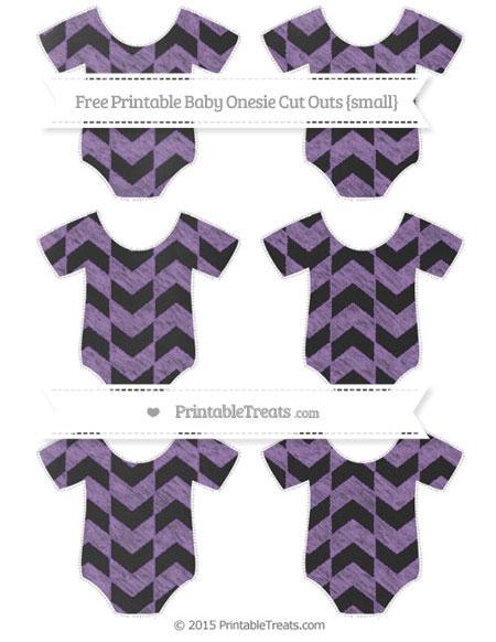 Free Pastel Plum Herringbone Pattern Chalk Style Small Baby Onesie Cut Outs