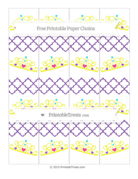 Free Pastel Plum Moroccan Tile Princess Tiara Paper Chains