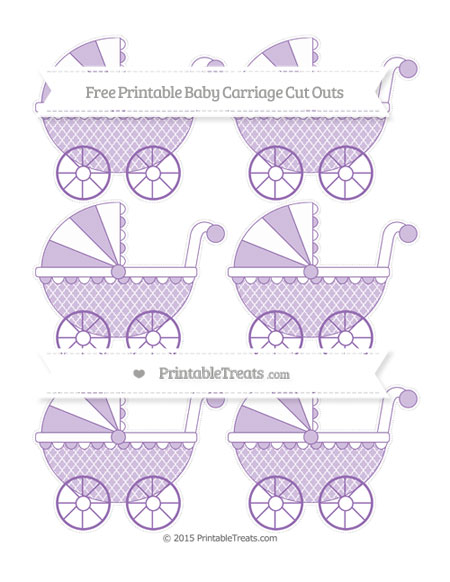 Free Pastel Plum Moroccan Tile Small Baby Carriage Cut Outs