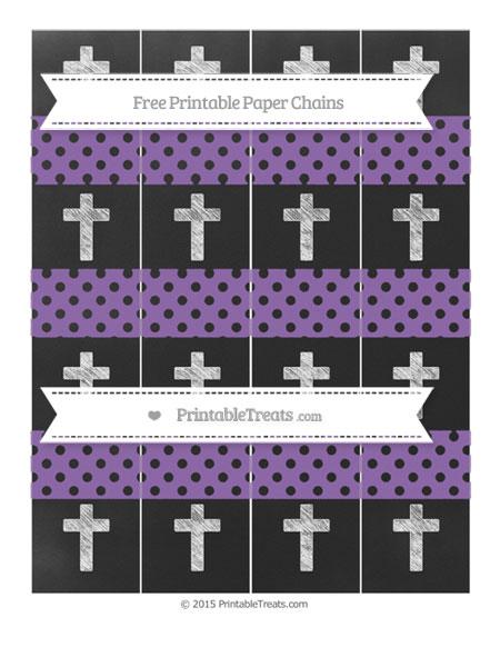 Free Pastel Plum Polka Dot Chalk Style Cross Paper Chains
