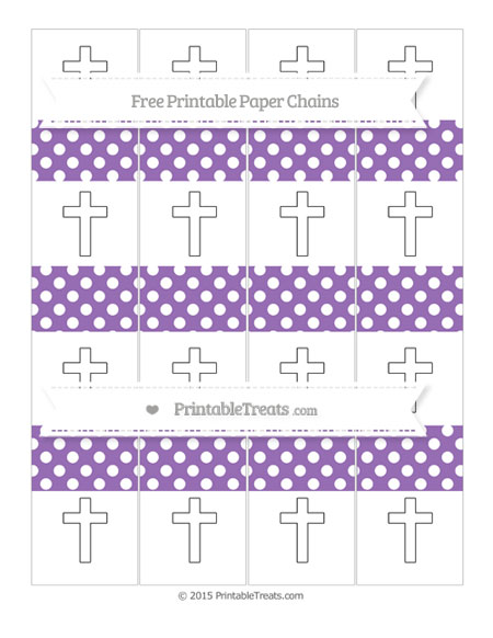 Free Pastel Plum Polka Dot Cross Paper Chains