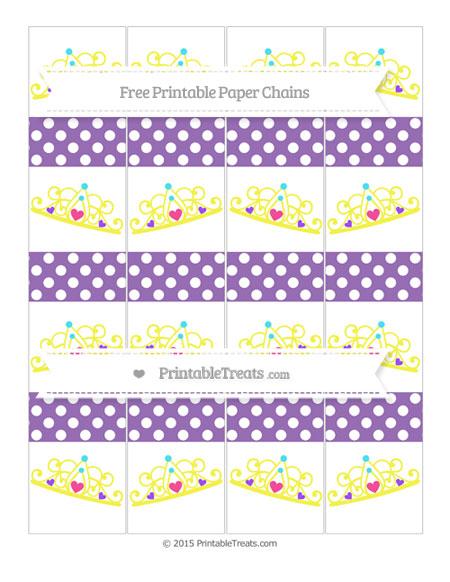 Free Pastel Plum Polka Dot Princess Tiara Paper Chains