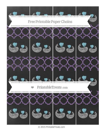 Free Pastel Plum Quatrefoil Pattern Chalk Style Baby Whale Paper Chains