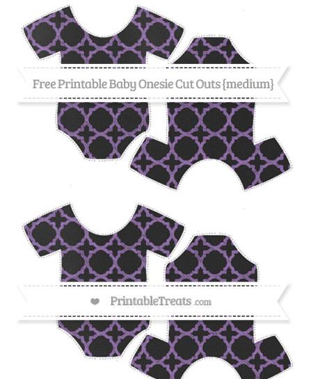 Free Pastel Plum Quatrefoil Pattern Chalk Style Medium Baby Onesie Cut Outs