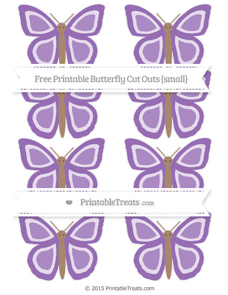 Free Pastel Plum Small Butterfly Cut Outs