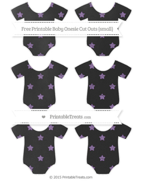Free Pastel Plum Star Pattern Chalk Style Small Baby Onesie Cut Outs