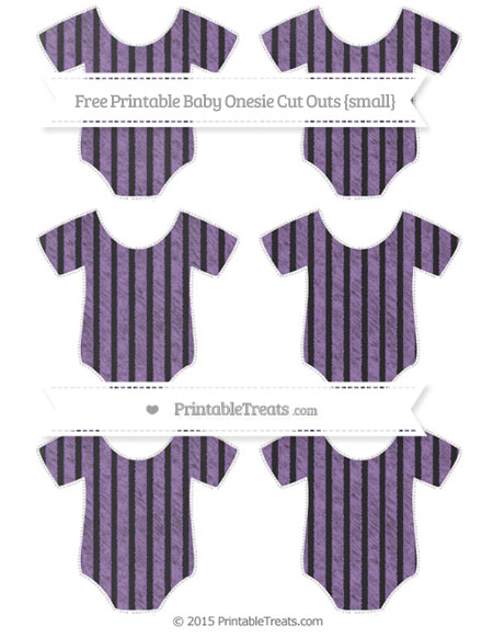 Free Pastel Plum Thin Striped Pattern Chalk Style Small Baby Onesie Cut Outs