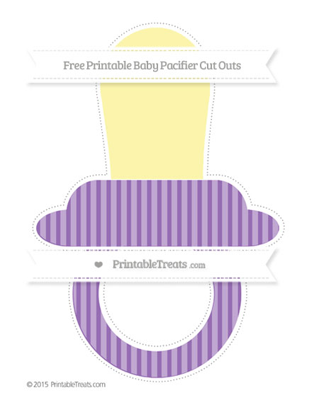 Free Pastel Plum Thin Striped Pattern Extra Large Baby Pacifier Cut Outs