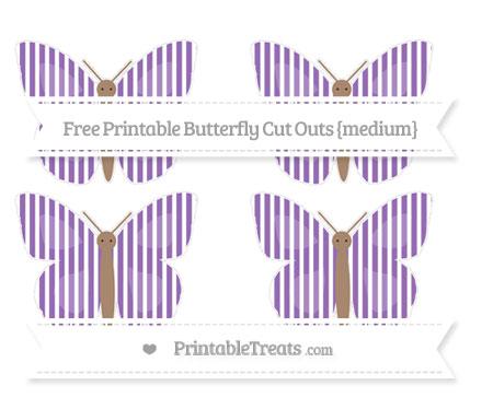 Free Pastel Plum Thin Striped Pattern Medium Butterfly Cut Outs