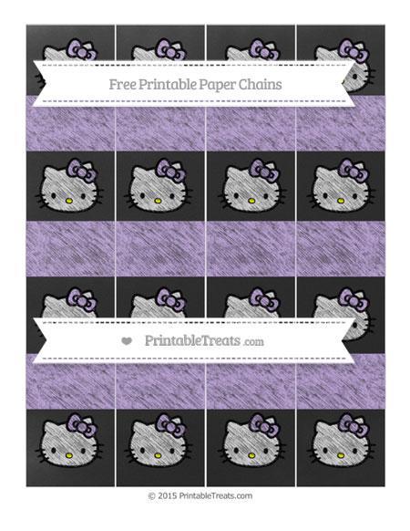 Free Pastel Purple Chalk Style Hello Kitty Paper Chains