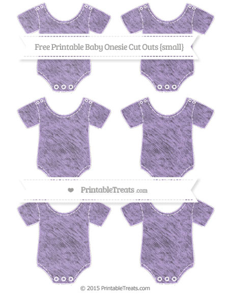 Free Pastel Purple Chalk Style Small Baby Onesie Cut Outs