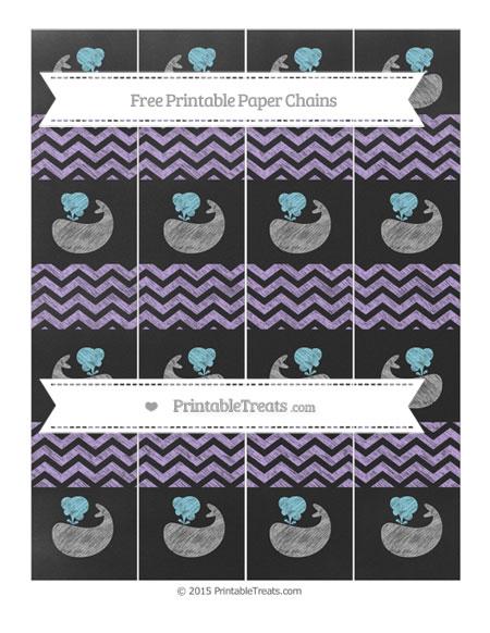 Free Pastel Purple Chevron Chalk Style Whale Paper Chains