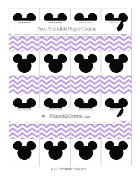 Free Pastel Purple Chevron Mickey Mouse Paper Chains