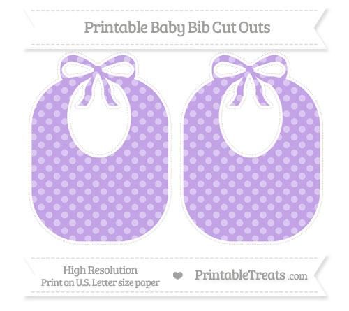 Free Pastel Purple Dotted Pattern Large Baby Bib Cut Outs