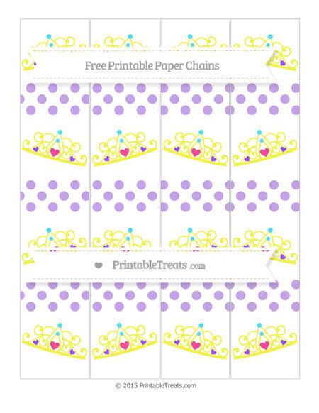 Free Pastel Purple Dotted Pattern Princess Tiara Paper Chains