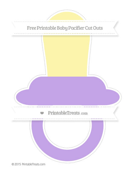 Free Pastel Purple Extra Large Baby Pacifier Cut Outs