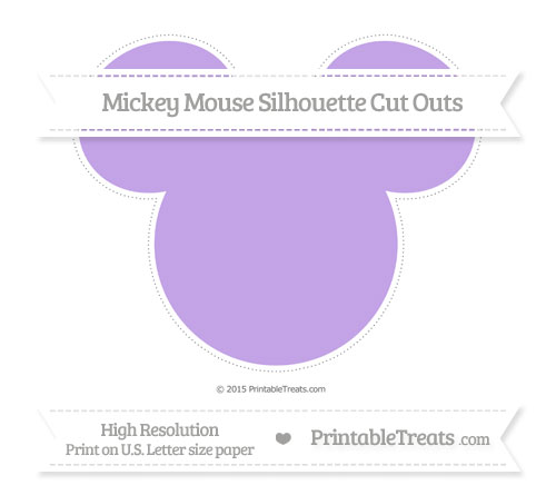 Free Pastel Purple Extra Large Mickey Mouse Silhouette Cut Outs