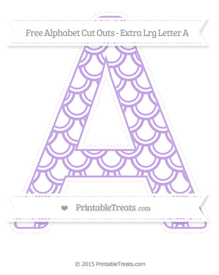 Free Pastel Purple Fish Scale Pattern Extra Large Capital Letter A Cut Outs