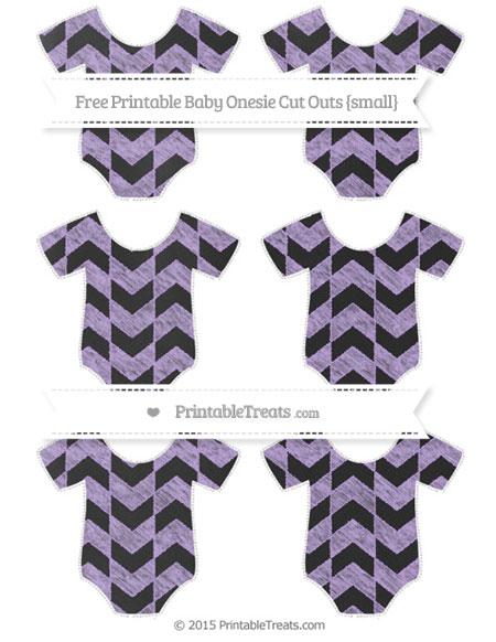 Free Pastel Purple Herringbone Pattern Chalk Style Small Baby Onesie Cut Outs