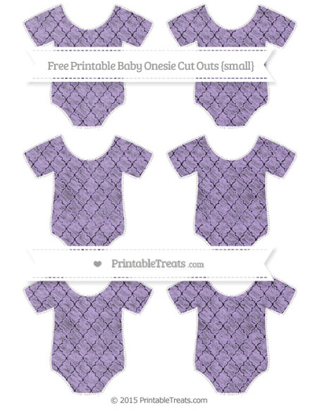 Free Pastel Purple Moroccan Tile Chalk Style Small Baby Onesie Cut Outs