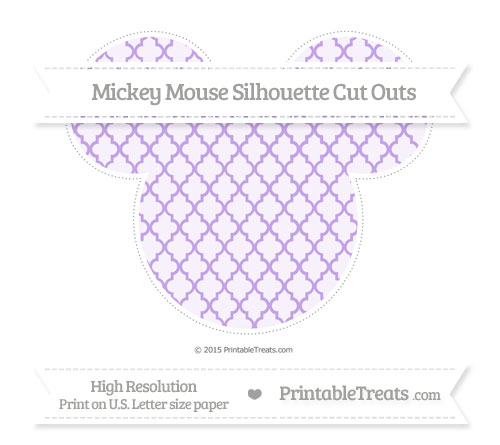 Free Pastel Purple Moroccan Tile Extra Large Mickey Mouse Silhouette Cut Outs