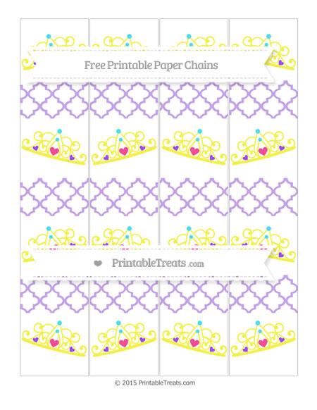 Free Pastel Purple Moroccan Tile Princess Tiara Paper Chains