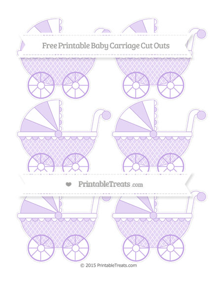 Free Pastel Purple Moroccan Tile Small Baby Carriage Cut Outs