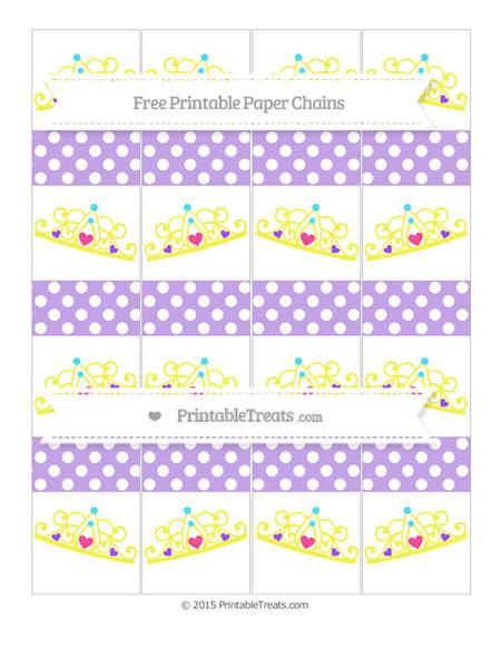 Free Pastel Purple Polka Dot Princess Tiara Paper Chains