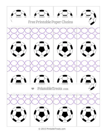 Free Pastel Purple Quatrefoil Pattern Soccer Paper Chains
