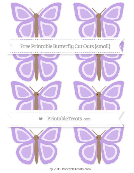 Free Pastel Purple Small Butterfly Cut Outs
