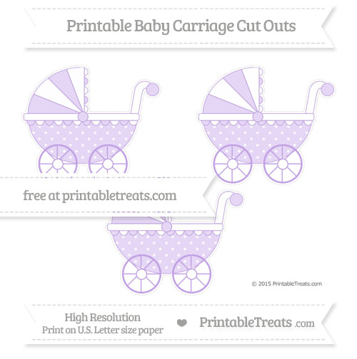 Free Pastel Purple Star Pattern Medium Baby Carriage Cut Outs