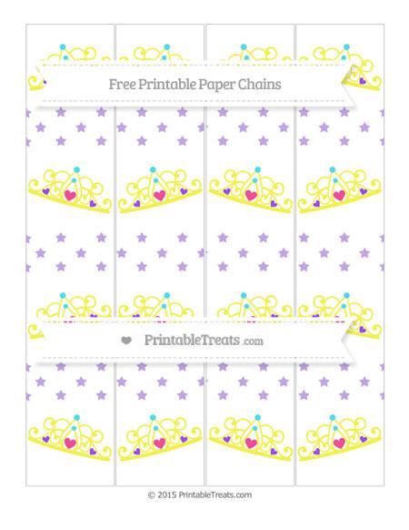 Free Pastel Purple Star Pattern Princess Tiara Paper Chains