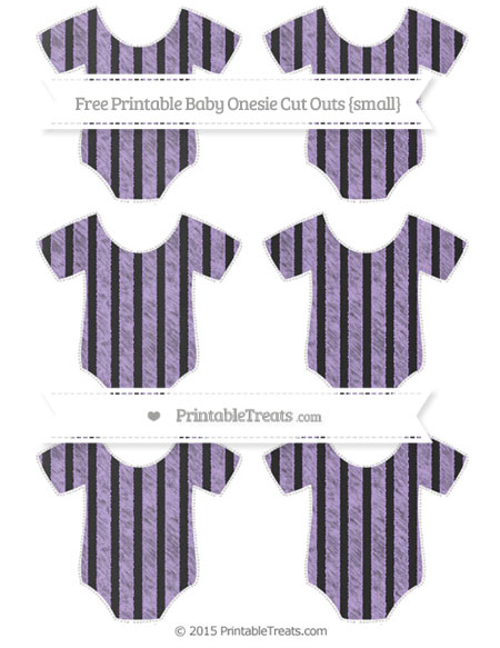 Free Pastel Purple Striped Chalk Style Small Baby Onesie Cut Outs