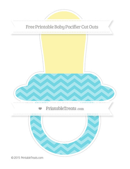 Free Pastel Teal Chevron Extra Large Baby Pacifier Cut Outs