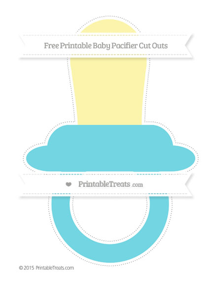 Free Pastel Teal Extra Large Baby Pacifier Cut Outs