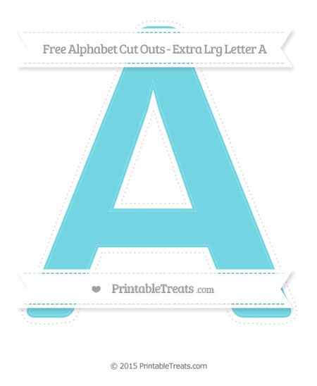 Free Pastel Teal Extra Large Capital Letter A Cut Outs