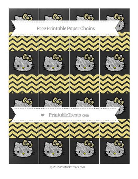Free Pastel Yellow Chevron Chalk Style Hello Kitty Paper Chains