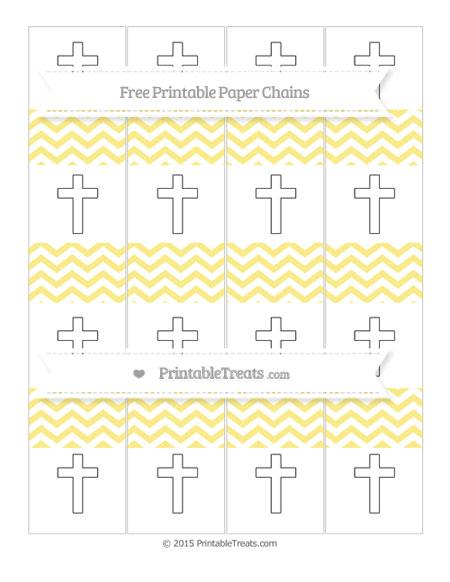 Free Pastel Yellow Chevron Cross Paper Chains